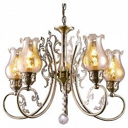 Подвесная люстра Arte Lamp5 или 6 ламп<br>Артикул - AR_A9561LM-5AB,Бренд - Arte Lamp (Италия),Коллекция - Ballerina,Гарантия, месяцы - 24,Высота, мм - 410-970,Диаметр, мм - 530,Тип лампы - компактная люминесцентная [КЛЛ] ИЛИнакаливания ИЛИсветодиодная [LED],Общее кол-во ламп - 5,Напряжение питания лампы, В - 220,Максимальная мощность лампы, Вт - 40,Лампы в комплекте - отсутствуют,Цвет плафонов и подвесок - неокрашенный, неокрашенный с бронзовым рисунком,Тип поверхности плафонов - прозрачный,Материал плафонов и подвесок - стекло, хрусталь,Цвет арматуры - бронза античная,Тип поверхности арматуры - глянцевый,Материал арматуры - металл,Возможность подлючения диммера - можно, если установить лампу накаливания,Тип цоколя лампы - E14,Класс электробезопасности - I,Общая мощность, Вт - 200,Степень пылевлагозащиты, IP - 20,Диапазон рабочих температур - комнатная температура,Дополнительные параметры - способ крепления светильника к потолку – на монтажной пластине или крюке<br>