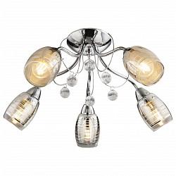 Потолочная люстра Globo5 или 6 ламп<br>Артикул - GB_56688-5,Бренд - Globo (Австрия),Коллекция - Lilly I,Гарантия, месяцы - 24,Высота, мм - 230,Диаметр, мм - 550,Тип лампы - компактная люминесцентная [КЛЛ] ИЛИнакаливания ИЛИсветодиодная [LED],Общее кол-во ламп - 5,Напряжение питания лампы, В - 220,Максимальная мощность лампы, Вт - 40,Лампы в комплекте - отсутствуют,Цвет плафонов и подвесок - неокрашенный, хром,Тип поверхности плафонов - глянцевый, прозрачный,Материал плафонов и подвесок - арикл, стекло,Цвет арматуры - хром,Тип поверхности арматуры - глянцевый,Материал арматуры - металл,Возможность подлючения диммера - можно, если установить лампу накаливания,Тип цоколя лампы - E14,Класс электробезопасности - I,Общая мощность, Вт - 200,Степень пылевлагозащиты, IP - 20,Диапазон рабочих температур - комнатная температура,Дополнительные параметры - способ крепления светильника к потолку - на монтажной пластине<br>
