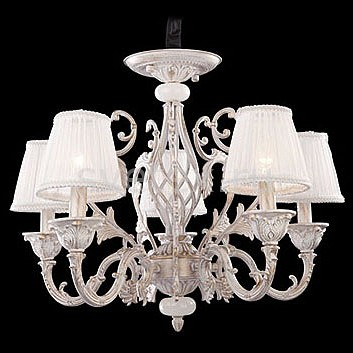 Подвесная люстра EurosvetСветильники<br>Артикул - EV_71529,Бренд - Eurosvet (Китай),Коллекция - 10001,Гарантия, месяцы - 24,Высота, мм - 450-1002,Диаметр, мм - 580,Тип лампы - компактная люминесцентная [КЛЛ] ИЛИнакаливания ИЛИсветодиодная [LED],Общее кол-во ламп - 5,Напряжение питания лампы, В - 220,Максимальная мощность лампы, Вт - 40,Лампы в комплекте - отсутствуют,Цвет плафонов и подвесок - белый,Тип поверхности плафонов - матовый,Материал плафонов и подвесок - текстиль,Цвет арматуры - белый с золотой патиной,Тип поверхности арматуры - матовый, рельефный,Материал арматуры - металл,Количество плафонов - 5,Возможность подлючения диммера - можно, если установить лампу накаливания,Тип цоколя лампы - E14,Класс электробезопасности - I,Общая мощность, Вт - 200,Степень пылевлагозащиты, IP - 20,Диапазон рабочих температур - комнатная температура,Дополнительные параметры - способ крепления светильника к потолку - на крюке, регулируется по высоте<br>