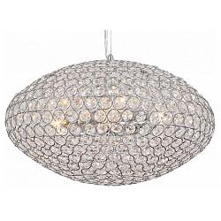 Подвесной светильник ST-LuceС 1 плафоном<br>Артикул - SL753.103.06,Бренд - ST-Luce (Китай),Коллекция - Calata,Гарантия, месяцы - 24,Высота, мм - 250-1450,Диаметр, мм - 620,Тип лампы - компактная люминесцентная [КЛЛ] ИЛИнакаливания ИЛИсветодиодная [LED],Общее кол-во ламп - 6,Напряжение питания лампы, В - 220,Максимальная мощность лампы, Вт - 40,Лампы в комплекте - отсутствуют,Цвет плафонов и подвесок - неокрашенный,Тип поверхности плафонов - прозрачный,Материал плафонов и подвесок - хрусталь,Цвет арматуры - хром,Тип поверхности арматуры - глянцевый,Материал арматуры - металл,Возможность подлючения диммера - можно, если установить лампу накаливания,Тип цоколя лампы - E14,Класс электробезопасности - I,Общая мощность, Вт - 240,Степень пылевлагозащиты, IP - 20,Диапазон рабочих температур - комнатная температура,Дополнительные параметры - способ крепления светильника к потолку - на монтажной пластине, регулируется по высоте<br>