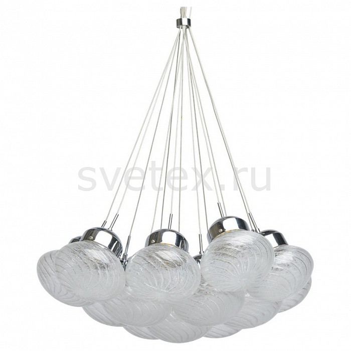Подвесной светильник RegenBogen LIFEБарные<br>Артикул - MW_392015613,Бренд - RegenBogen LIFE (Германия),Коллекция - Фьюжен 15,Гарантия, месяцы - 24,Высота, мм - 260-870,Диаметр, мм - 600,Тип лампы - светодиодная [LED],Общее кол-во ламп - 13,Максимальная мощность лампы, Вт - 3,Цвет лампы - белый теплый,Лампы в комплекте - светодиодные [LED],Цвет плафонов и подвесок - неокрашенный,Тип поверхности плафонов - прозрачный, рельефный,Материал плафонов и подвесок - стекло,Цвет арматуры - хром,Тип поверхности арматуры - глянцевый,Материал арматуры - металл,Количество плафонов - 13,Возможность подлючения диммера - нельзя,Цветовая температура, K - 3000 K,Экономичнее лампы накаливания - в 10 раз,Класс электробезопасности - I,Напряжение питания, В - 220,Общая мощность, Вт - 39,Степень пылевлагозащиты, IP - 20,Диапазон рабочих температур - комнатная температура,Дополнительные параметры - способ крепления светильника к потолоку - на монтажной пластине, регулируется по высоте<br>