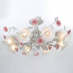 Люстра на штанге Lucia TucciБолее 6 ламп<br>Артикул - LT_Fiori_di_rose_114.8,Бренд - Lucia Tucci (Италия),Коллекция - Fiori di rose,Гарантия, месяцы - 24,Высота, мм - 400,Диаметр, мм - 800,Тип лампы - компактная люминесцентная [КЛЛ] ИЛИнакаливания ИЛИсветодиодная [LED],Общее кол-во ламп - 8,Напряжение питания лампы, В - 220,Максимальная мощность лампы, Вт - 60,Лампы в комплекте - отсутствуют,Цвет плафонов и подвесок - белый,Тип поверхности плафонов - матовый,Материал плафонов и подвесок - стекло,Цвет арматуры - белый, розовый,Тип поверхности арматуры - матовый,Материал арматуры - керамика, металл,Возможность подлючения диммера - можно, если установить лампу накаливания,Тип цоколя лампы - E27,Класс электробезопасности - I,Общая мощность, Вт - 480,Степень пылевлагозащиты, IP - 20,Диапазон рабочих температур - комнатная температура,Дополнительные параметры - способ крепления светильника к потолку – на монтажной пластине<br>