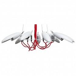 Подвесной светильник RegenBogen LIFEСветодиодные<br>Артикул - MW_492012509,Бренд - RegenBogen LIFE (Германия),Коллекция - Котбус,Гарантия, месяцы - 24,Высота, мм - 300-1500,Диаметр, мм - 900,Тип лампы - светодиодная [LED],Общее кол-во ламп - 9,Напряжение питания лампы, В - 220,Максимальная мощность лампы, Вт - 5,Лампы в комплекте - светодиодные [LED] GU10,Цвет плафонов и подвесок - белый,Тип поверхности плафонов - матовый,Материал плафонов и подвесок - металл,Цвет арматуры - белый, красный,Тип поверхности арматуры - матовый,Материал арматуры - металл, полимер,Возможность подлючения диммера - нельзя,Форма и тип колбы - полусферическая с рефлектором,Тип цоколя лампы - GU10,Класс электробезопасности - I,Общая мощность, Вт - 45,Степень пылевлагозащиты, IP - 20,Диапазон рабочих температур - комнатная температура,Дополнительные параметры - способ крепления светильника к потолоку - на монтажной пластине, регулируется по высоте<br>