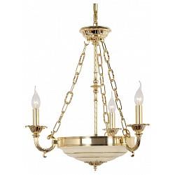 Подвесная люстра Arti LampadariНе более 4 ламп<br>Артикул - AL_Pavia_E_1.13.3_G,Бренд - Arti Lampadari (Италия),Коллекция - Pavia,Гарантия, месяцы - 24,Высота, мм - 550,Диаметр, мм - 450,Тип лампы - компактные люминесцентные [КЛЛ] ИЛИнакаливания ИЛИсветодиодные [LED],Общее кол-во ламп - 3, 3,Напряжение питания лампы, В - 220,Максимальная мощность лампы, Вт - 60, 40,Лампы в комплекте - отсутствуют,Цвет плафонов и подвесок - белый с рисунком,Тип поверхности плафонов - матовый,Материал плафонов и подвесок - стекло,Цвет арматуры - золото,Тип поверхности арматуры - глянцевый,Материал арматуры - металл,Возможность подлючения диммера - можно, если установить лампу накаливания,Тип цоколя лампы - E27, E14,Класс электробезопасности - I,Общая мощность, Вт - 300,Степень пылевлагозащиты, IP - 20,Диапазон рабочих температур - комнатная температура,Дополнительные параметры - указана высота светильника без подвеса,  способ крепления светильника к потолку – на крюке<br>
