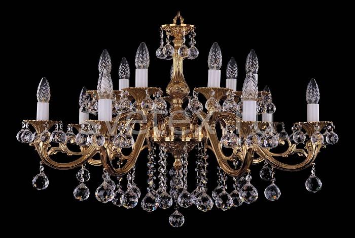 Фото Подвесная люстра Bohemia Ivele Crystal 1703 1703/14/B/G/Balls