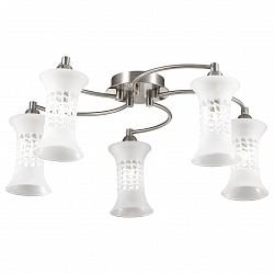 Потолочная люстра Odeon Light5 или 6 ламп<br>Артикул - OD_2516_5C,Бренд - Odeon Light (Италия),Коллекция - Rukba,Гарантия, месяцы - 24,Высота, мм - 180,Диаметр, мм - 720,Тип лампы - галогеновая,Общее кол-во ламп - 5,Напряжение питания лампы, В - 220,Максимальная мощность лампы, Вт - 40,Лампы в комплекте - галогеновые G9,Цвет плафонов и подвесок - белый,Тип поверхности плафонов - глянцевый,Материал плафонов и подвесок - стекло,Цвет арматуры - никель,Тип поверхности арматуры - глянцевый,Материал арматуры - металл,Возможность подлючения диммера - можно,Форма и тип колбы - пальчиковая,Тип цоколя лампы - G9,Класс электробезопасности - I,Общая мощность, Вт - 200,Степень пылевлагозащиты, IP - 20,Диапазон рабочих температур - комнатная температура<br>