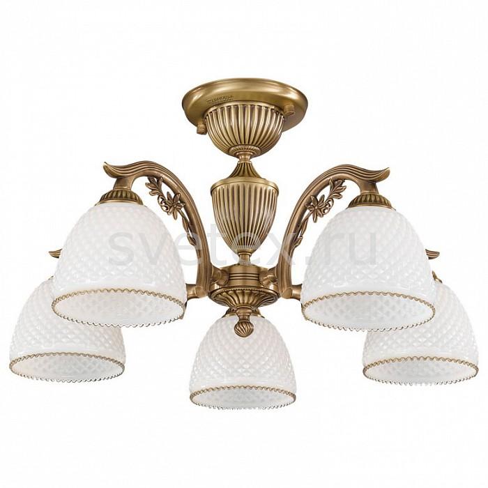 Люстра на штанге Reccagni AngeloЛюстры<br>Артикул - RA_PL_8621_5,Бренд - Reccagni Angelo (Италия),Коллекция - 8601,Гарантия, месяцы - 24,Высота, мм - 320,Диаметр, мм - 600,Тип лампы - компактная люминесцентная [КЛЛ] ИЛИнакаливания ИЛИсветодиодная [LED],Общее кол-во ламп - 5,Напряжение питания лампы, В - 220,Максимальная мощность лампы, Вт - 60,Лампы в комплекте - отсутствуют,Цвет плафонов и подвесок - белый с каймой,Тип поверхности плафонов - матовый, рельефный,Материал плафонов и подвесок - стекло,Цвет арматуры - бронза состаренная,Тип поверхности арматуры - матовый, рельефный,Материал арматуры - латунь,Количество плафонов - 5,Возможность подлючения диммера - можно, если установить лампу накаливания,Тип цоколя лампы - E27,Класс электробезопасности - I,Общая мощность, Вт - 300,Степень пылевлагозащиты, IP - 20,Диапазон рабочих температур - комнатная температура,Дополнительные параметры - способ крепления к потолку - на монтажной пластине<br>