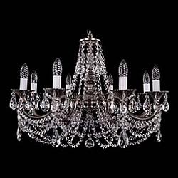 Подвесная люстра Bohemia Ivele CrystalБолее 6 ламп<br>Артикул - BI_1702_8_C_NB,Бренд - Bohemia Ivele Crystal (Чехия),Коллекция - 1702,Гарантия, месяцы - 12,Высота, мм - 550,Диаметр, мм - 700,Размер упаковки, мм - 640x640x320,Тип лампы - компактная люминесцентная [КЛЛ] ИЛИнакаливания ИЛИсветодиодная [LED],Общее кол-во ламп - 8,Напряжение питания лампы, В - 220,Максимальная мощность лампы, Вт - 40,Лампы в комплекте - отсутствуют,Цвет плафонов и подвесок - неокрашенный,Тип поверхности плафонов - прозрачный,Материал плафонов и подвесок - хрусталь,Цвет арматуры - никель черненый,Тип поверхности арматуры - глянцевый, рельефный,Материал арматуры - металл,Возможность подлючения диммера - можно, если установить лампу накаливания,Форма и тип колбы - свеча ИЛИ свеча на ветру,Тип цоколя лампы - E14,Класс электробезопасности - I,Общая мощность, Вт - 320,Степень пылевлагозащиты, IP - 20,Диапазон рабочих температур - комнатная температура,Дополнительные параметры - способ крепления светильника к потолку – на крюке<br>