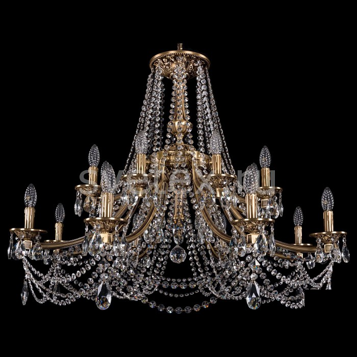 Подвесная люстра Bohemia Ivele CrystalБолее 6 ламп<br>Артикул - BI_1771_16_342_C_FP,Бренд - Bohemia Ivele Crystal (Чехия),Коллекция - 1771,Гарантия, месяцы - 24,Высота, мм - 740,Диаметр, мм - 980,Размер упаковки, мм - 710x710x350,Тип лампы - компактная люминесцентная [КЛЛ] ИЛИнакаливания ИЛИсветодиодная [LED],Общее кол-во ламп - 16,Напряжение питания лампы, В - 220,Максимальная мощность лампы, Вт - 40,Лампы в комплекте - отсутствуют,Цвет плафонов и подвесок - неокрашенный,Тип поверхности плафонов - прозрачный,Материал плафонов и подвесок - хрусталь,Цвет арматуры - золото с патиной,Тип поверхности арматуры - глянцевый,Материал арматуры - металл,Возможность подлючения диммера - можно, если установить лампу накаливания,Форма и тип колбы - свеча ИЛИ свеча на ветру,Тип цоколя лампы - E14,Класс электробезопасности - I,Общая мощность, Вт - 640,Степень пылевлагозащиты, IP - 20,Диапазон рабочих температур - комнатная температура,Дополнительные параметры - способ крепления светильника к потолку - на крюке, указана высота светильники без подвеса<br>