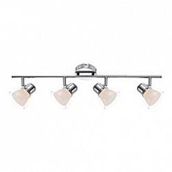 Спот GloboС 4 лампами<br>Артикул - GB_56182-4,Бренд - Globo (Австрия),Коллекция - Nashville,Гарантия, месяцы - 24,Размер упаковки, мм - 170x95x830,Тип лампы - светодиодная [LED],Общее кол-во ламп - 4,Напряжение питания лампы, В - 12,Максимальная мощность лампы, Вт - 4,Лампы в комплекте - светодиодные [LED],Цвет плафонов и подвесок - белый, неокрашенный,Тип поверхности плафонов - матовый, прозрачный,Материал плафонов и подвесок - полимер,Цвет арматуры - хром,Тип поверхности арматуры - глянцевый,Материал арматуры - металл,Возможность подлючения диммера - нельзя,Класс электробезопасности - I,Общая мощность, Вт - 16,Степень пылевлагозащиты, IP - 20,Диапазон рабочих температур - комнатная температура,Дополнительные параметры - способ крепления светильника к стене и потолку - на монтажной пластине, поворотный светильник<br>
