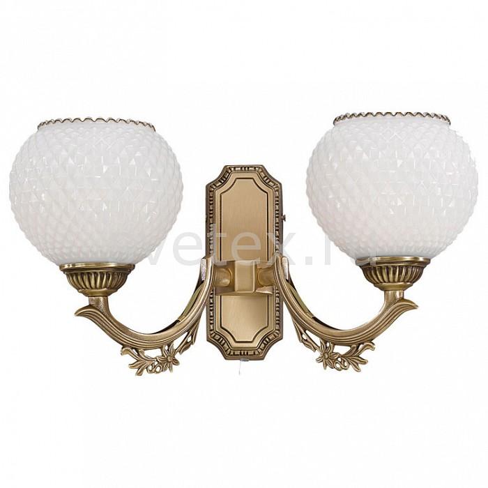 Бра Reccagni AngeloНастенные светильники<br>Артикул - RA_A_8650_2,Бренд - Reccagni Angelo (Италия),Коллекция - 8650,Гарантия, месяцы - 24,Ширина, мм - 370,Высота, мм - 200,Выступ, мм - 210,Тип лампы - компактная люминесцентная [КЛЛ] ИЛИнакаливания ИЛИсветодиодная [LED],Общее кол-во ламп - 2,Напряжение питания лампы, В - 220,Максимальная мощность лампы, Вт - 60,Лампы в комплекте - отсутствуют,Цвет плафонов и подвесок - белый,Тип поверхности плафонов - матовый, рельефный,Материал плафонов и подвесок - стекло,Цвет арматуры - бронза состаренная,Тип поверхности арматуры - матовый, рельефный,Материал арматуры - латунь,Количество плафонов - 2,Наличие выключателя, диммера или пульта ДУ - выключатель шнуровой,Возможность подлючения диммера - можно, если установить лампу накаливания,Тип цоколя лампы - E27,Класс электробезопасности - I,Общая мощность, Вт - 120,Степень пылевлагозащиты, IP - 20,Диапазон рабочих температур - комнатная температура,Дополнительные параметры - способ крепления светильника на стене – на монтажной пластине, светильник предназначен для использования со скрытой проводкой<br>