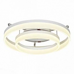 Накладной светильник ST-LuceСветодиодные<br>Артикул - SL928.502.02,Бренд - ST-Luce (Китай),Коллекция - SL928,Гарантия, месяцы - 24,Высота, мм - 270,Диаметр, мм - 600,Размер упаковки, мм - 710х710х360,Тип лампы - светодиодная [LED],Общее кол-во ламп - 2,Напряжение питания лампы, В - 220,Максимальная мощность лампы, Вт - 30,Лампы в комплекте - светодиодные [LED],Цвет плафонов и подвесок - белый,Тип поверхности плафонов - матовый,Материал плафонов и подвесок - акрил, металл,Цвет арматуры - хром,Тип поверхности арматуры - глянцевый, металлик,Материал арматуры - металл,Возможность подлючения диммера - нельзя,Класс электробезопасности - I,Общая мощность, Вт - 60,Степень пылевлагозащиты, IP - 20,Диапазон рабочих температур - комнатная температура,Дополнительные параметры - способ крепления светильника к потолку - на монтажной пластине<br>