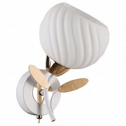 Бра IDLampС 1 лампой<br>Артикул - ID_821_1A-Whitegold,Бренд - IDLamp (Италия),Коллекция - 821,Гарантия, месяцы - 24,Время изготовления, дней - 1,Высота, мм - 230,Тип лампы - компактная люминесцентная [КЛЛ] ИЛИнакаливания ИЛИсветодиодная [LED],Общее кол-во ламп - 1,Напряжение питания лампы, В - 220,Максимальная мощность лампы, Вт - 60,Лампы в комплекте - отсутствуют,Цвет плафонов и подвесок - белый,Тип поверхности плафонов - матовый, рельефный,Материал плафонов и подвесок - стекло,Цвет арматуры - белый, золото,Тип поверхности арматуры - матовый,Материал арматуры - металл,Возможность подлючения диммера - можно, если установить лампу накаливания,Тип цоколя лампы - E27,Степень пылевлагозащиты, IP - 20,Диапазон рабочих температур - комнатная температура,Дополнительные параметры - светильник предназначен для использования со скрытой проводкой<br>