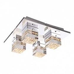 Накладной светильник GloboКвадратные<br>Артикул - GB_42505-4,Бренд - Globo (Австрия),Коллекция - Macan,Гарантия, месяцы - 24,Размер упаковки, мм - 340x340x150,Тип лампы - светодиодная [LED],Общее кол-во ламп - 4,Напряжение питания лампы, В - 17,Максимальная мощность лампы, Вт - 5,Лампы в комплекте - светодиодные [LED],Цвет плафонов и подвесок - неокрашенный,Тип поверхности плафонов - прозрачный,Материал плафонов и подвесок - стекло,Цвет арматуры - хром,Тип поверхности арматуры - глянцевый,Материал арматуры - металл,Возможность подлючения диммера - нельзя,Класс электробезопасности - I,Общая мощность, Вт - 20,Степень пылевлагозащиты, IP - 20,Диапазон рабочих температур - комнатная температура,Дополнительные параметры - способ крепления светильника к потолку и стене - на монтажной пластине<br>