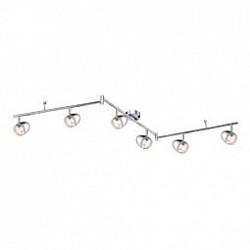 Спот GloboБолее 4 ламп<br>Артикул - GB_56206-6,Бренд - Globo (Австрия),Коллекция - Manjola,Гарантия, месяцы - 24,Тип лампы - светодиодная [LED],Общее кол-во ламп - 6,Напряжение питания лампы, В - 128,Максимальная мощность лампы, Вт - 3,Лампы в комплекте - светодиодные [LED],Цвет плафонов и подвесок - неокрашенный, хром,Тип поверхности плафонов - глянцевый, прозрачный,Материал плафонов и подвесок - акрил, металл,Цвет арматуры - хром,Тип поверхности арматуры - глянцевый,Материал арматуры - металл,Возможность подлючения диммера - нельзя,Класс электробезопасности - I,Общая мощность, Вт - 18,Степень пылевлагозащиты, IP - 20,Диапазон рабочих температур - комнатная температура,Дополнительные параметры - поворотный светильник<br>