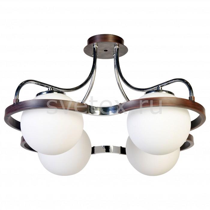 Потолочная люстра SilverLightСветильники<br>Артикул - SL_209.59.4,Бренд - SilverLight (Франция),Коллекция - Globe,Гарантия, месяцы - 12,Высота, мм - 342,Диаметр, мм - 580,Тип лампы - компактная люминесцентная [КЛЛ] ИЛИнакаливания ИЛИсветодиодная [LED],Общее кол-во ламп - 4,Напряжение питания лампы, В - 220,Максимальная мощность лампы, Вт - 60,Лампы в комплекте - отсутствуют,Цвет плафонов и подвесок - белый,Тип поверхности плафонов - матовый,Материал плафонов и подвесок - стекло,Цвет арматуры - венге, хром,Тип поверхности арматуры - глянцевый, матовый,Материал арматуры - металл,Количество плафонов - 4,Возможность подлючения диммера - можно, если установить лампу накаливания,Тип цоколя лампы - E14,Класс электробезопасности - I,Общая мощность, Вт - 240,Степень пылевлагозащиты, IP - 20,Диапазон рабочих температур - комнатная температура,Дополнительные параметры - способ крепления светильника к потолку – на монтажной пластине<br>
