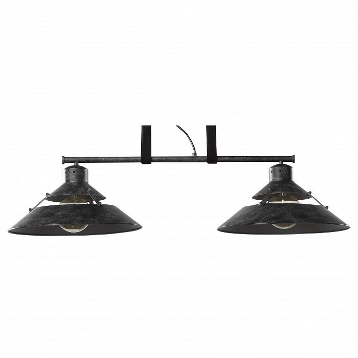 Подвесной светильник MantraБарные<br>Артикул - MN_5443,Бренд - Mantra (Испания),Коллекция - Industrial,Гарантия, месяцы - 24,Длина, мм - 900,Ширина, мм - 350,Высота, мм - 350-1750,Тип лампы - компактная люминесцентная [КЛЛ] ИЛИнакаливания ИЛИсветодиодная [LED],Общее кол-во ламп - 2,Напряжение питания лампы, В - 220,Максимальная мощность лампы, Вт - 40,Лампы в комплекте - отсутствуют,Цвет плафонов и подвесок - черный,Тип поверхности плафонов - матовый,Материал плафонов и подвесок - металл,Цвет арматуры - черный,Тип поверхности арматуры - матовый,Материал арматуры - металл,Количество плафонов - 2,Возможность подлючения диммера - можно, если установить лампу накаливания,Тип цоколя лампы - E27,Класс электробезопасности - I,Общая мощность, Вт - 80,Степень пылевлагозащиты, IP - 20,Диапазон рабочих температур - комнатная температура,Дополнительные параметры - регулируется по высоте,  способ крепления светильника к потолку – на монтажной пластине<br>