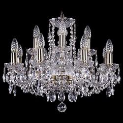 Подвесная люстра Bohemia Ivele CrystalБолее 6 ламп<br>Артикул - BI_1402_8_195_Pa,Бренд - Bohemia Ivele Crystal (Чехия),Коллекция - 1402,Гарантия, месяцы - 24,Высота, мм - 400,Диаметр, мм - 570,Размер упаковки, мм - 450x450x200,Тип лампы - компактная люминесцентная [КЛЛ] ИЛИнакаливания ИЛИсветодиодная [LED],Общее кол-во ламп - 8,Напряжение питания лампы, В - 220,Максимальная мощность лампы, Вт - 40,Лампы в комплекте - отсутствуют,Цвет плафонов и подвесок - неокрашенный,Тип поверхности плафонов - прозрачный,Материал плафонов и подвесок - хрусталь,Цвет арматуры - золото с патиной, неокрашенный,Тип поверхности арматуры - глянцевый, прозрачный, рельефный,Материал арматуры - металл, стекло,Возможность подлючения диммера - можно, если установить лампу накаливания,Форма и тип колбы - свеча ИЛИ свеча на ветру,Тип цоколя лампы - E14,Класс электробезопасности - I,Общая мощность, Вт - 320,Степень пылевлагозащиты, IP - 20,Диапазон рабочих температур - комнатная температура,Дополнительные параметры - способ крепления светильника к потолку - на крюке, указана высота светильника без подвеса<br>