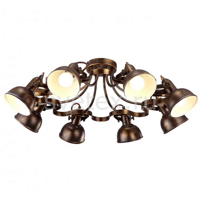 Спот Arte LampСпоты<br>Артикул - AR_A5216PL-8BR,Бренд - Arte Lamp (Италия),Коллекция - Martin,Гарантия, месяцы - 24,Выступ, мм - 250,Диаметр, мм - 730,Размер упаковки, мм - 630x630x260,Тип лампы - компактная люминесцентная [КЛЛ] ИЛИнакаливания ИЛИсветодиодная [LED],Общее кол-во ламп - 8,Напряжение питания лампы, В - 220,Максимальная мощность лампы, Вт - 40,Лампы в комплекте - отсутствуют,Цвет плафонов и подвесок - коричневый,Тип поверхности плафонов - глянцевый,Материал плафонов и подвесок - металл,Цвет арматуры - коричневый,Тип поверхности арматуры - глянцевый,Материал арматуры - металл,Количество плафонов - 8,Возможность подлючения диммера - можно, если установить лампу накаливания,Тип цоколя лампы - E14,Класс электробезопасности - I,Общая мощность, Вт - 320,Степень пылевлагозащиты, IP - 20,Диапазон рабочих температур - комнатная температура,Дополнительные параметры - способ крепления светильника к потолку и стене – на монтажной пластине, поворотный светильник<br>