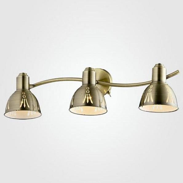 Бра EurosvetСветодиодные<br>Артикул - EV_77913,Бренд - Eurosvet (Китай),Коллекция - 20052,Гарантия, месяцы - 24,Ширина, мм - 540,Высота, мм - 150,Выступ, мм - 200,Тип лампы - компактная люминесцентная [КЛЛ] ИЛИнакаливания ИЛИсветодиодная [LED],Общее кол-во ламп - 3,Напряжение питания лампы, В - 220,Максимальная мощность лампы, Вт - 40,Лампы в комплекте - отсутствуют,Цвет плафонов и подвесок - бронза античная,Тип поверхности плафонов - матовый,Материал плафонов и подвесок - металл,Цвет арматуры - бронза античная,Тип поверхности арматуры - матовый,Материал арматуры - металл,Количество плафонов - 3,Наличие выключателя, диммера или пульта ДУ - выключатель,Возможность подлючения диммера - можно, если установить лампу накаливания,Тип цоколя лампы - E14,Класс электробезопасности - I,Общая мощность, Вт - 120,Степень пылевлагозащиты, IP - 20,Диапазон рабочих температур - комнатная температура,Дополнительные параметры - способ крепления светильника к стене - на монтажной пластине, светильник предназначен для  использования со скрытой проводкой, поворотный светильник<br>
