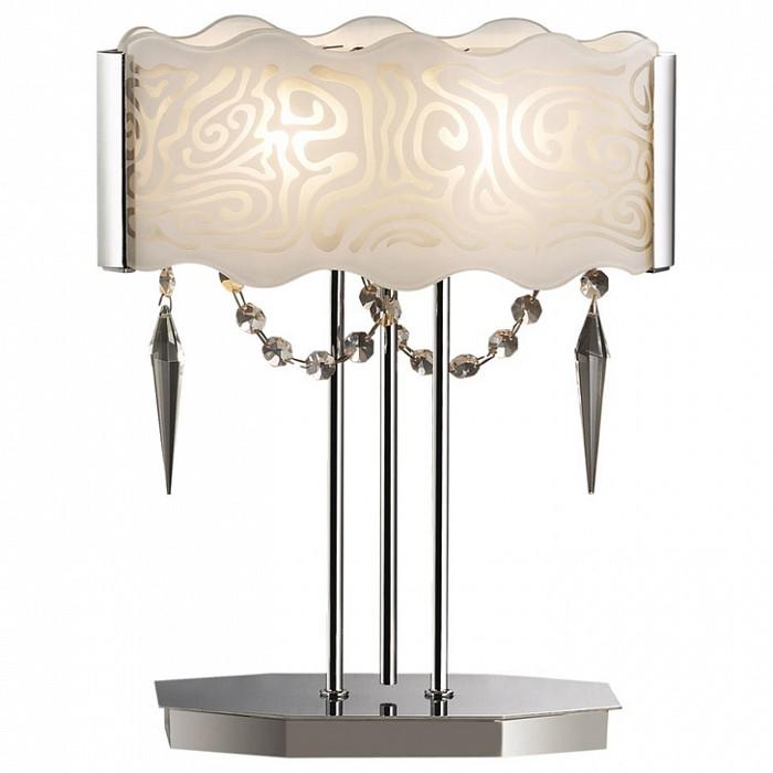 Настольная лампа Odeon LightСтеклянный плафон<br>Артикул - OD_2243_2T,Бренд - Odeon Light (Италия),Коллекция - Sinti,Гарантия, месяцы - 24,Время изготовления, дней - 1,Высота, мм - 700,Диаметр, мм - 400,Тип лампы - галогеновая,Общее кол-во ламп - 2,Напряжение питания лампы, В - 220,Максимальная мощность лампы, Вт - 40,Цвет лампы - белый теплый,Лампы в комплекте - галогеновые G9,Цвет плафонов и подвесок - белый с рисунком, неокрашенный,Тип поверхности плафонов - матовый,Материал плафонов и подвесок - стекло, хрусталь,Цвет арматуры - хром,Тип поверхности арматуры - глянцевый,Материал арматуры - металл,Количество плафонов - 1,Наличие выключателя, диммера или пульта ДУ - выключатель на проводе,Компоненты, входящие в комплект - провод электропитания с вилкой без заземления,Форма и тип колбы - пальчиковая,Тип цоколя лампы - G9,Цветовая температура, K - 2800 - 3200 K,Экономичнее лампы накаливания - на 50%,Класс электробезопасности - II,Общая мощность, Вт - 80,Степень пылевлагозащиты, IP - 20,Диапазон рабочих температур - комнатная температура<br>