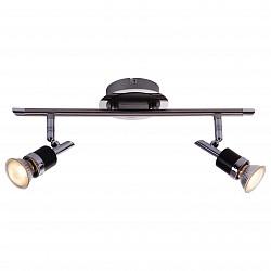Бра GloboС 2 лампами<br>Артикул - GB_57600-2,Бренд - Globo (Австрия),Коллекция - Diamondbacks,Гарантия, месяцы - 24,Высота, мм - 160,Тип лампы - галогеновая,Общее кол-во ламп - 2,Напряжение питания лампы, В - 220,Максимальная мощность лампы, Вт - 50,Лампы в комплекте - галогеновые GU10,Цвет арматуры - хром, черный,Тип поверхности арматуры - глянцевый, матовый,Материал арматуры - металл,Возможность подлючения диммера - можно,Форма и тип колбы - полусферическая с рефлектором,Тип цоколя лампы - GU10,Класс электробезопасности - I,Общая мощность, Вт - 100,Степень пылевлагозащиты, IP - 20,Диапазон рабочих температур - комнатная температура,Дополнительные параметры - поворотный светильник, светильник предназначен для использования со скрытой проводкой<br>
