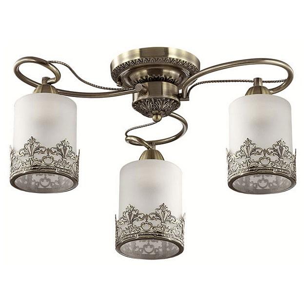 Потолочная люстра LumionЛюстры<br>Артикул - LMN_3070_3C,Бренд - Lumion (Италия),Коллекция - Citadella,Гарантия, месяцы - 24,Высота, мм - 240,Диаметр, мм - 530,Размер упаковки, мм - 220x350x350,Тип лампы - компактная люминесцентная [КЛЛ] ИЛИнакаливания ИЛИсветодиодная [LED],Общее кол-во ламп - 3,Напряжение питания лампы, В - 220,Максимальная мощность лампы, Вт - 40,Лампы в комплекте - отсутствуют,Цвет плафонов и подвесок - белый с бронзовой каймой,Тип поверхности плафонов - матовый,Материал плафонов и подвесок - металл, стекло,Цвет арматуры - бронза,Тип поверхности арматуры - матовый, металлик,Материал арматуры - металл,Количество плафонов - 3,Возможность подлючения диммера - можно, если установить лампу накаливания,Тип цоколя лампы - E27,Класс электробезопасности - I,Общая мощность, Вт - 120,Степень пылевлагозащиты, IP - 20,Диапазон рабочих температур - комнатная температура,Дополнительные параметры - способ крепления к потолку - на монтажной пластине<br>