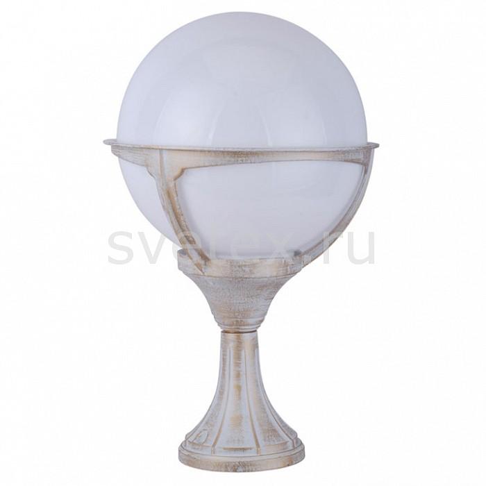 Наземный низкий светильник Arte LampСветильники<br>Артикул - AR_A1494FN-1WG,Бренд - Arte Lamp (Италия),Коллекция - Monaco,Гарантия, месяцы - 24,Время изготовления, дней - 1,Ширина, мм - 270,Высота, мм - 450,Выступ, мм - 270,Диаметр, мм - 270,Размер упаковки, мм - 280x280x455,Тип лампы - компактная люминесцентная [КЛЛ] ИЛИнакаливания ИЛИсветодиодная [LED],Общее кол-во ламп - 1,Напряжение питания лампы, В - 220,Максимальная мощность лампы, Вт - 100,Лампы в комплекте - отсутствуют,Цвет плафонов и подвесок - белый,Тип поверхности плафонов - матовый,Материал плафонов и подвесок - поликарбонат,Цвет арматуры - бело-золотой,Тип поверхности арматуры - матовый,Материал арматуры - металл,Количество плафонов - 1,Тип цоколя лампы - E27,Класс электробезопасности - II,Степень пылевлагозащиты, IP - 44,Диапазон рабочих температур - от -40^C до +40^C<br>