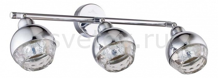Спот MaytoniСпоты<br>Артикул - MY_ECO006-03-N,Бренд - Maytoni (Германия),Коллекция - Facets,Гарантия, месяцы - 24,Длина, мм - 445,Ширина, мм - 101,Выступ, мм - 152,Размер упаковки, мм - 195x115x470,Тип лампы - галогеновая ИЛИсветодиодная [LED],Общее кол-во ламп - 3,Напряжение питания лампы, В - 220,Максимальная мощность лампы, Вт - 50,Лампы в комплекте - отсутствуют,Цвет плафонов и подвесок - неокрашенный, хром,Тип поверхности плафонов - глянцевый, прозрачный,Материал плафонов и подвесок - металл, стекло,Цвет арматуры - хром,Тип поверхности арматуры - глянцевый,Материал арматуры - металл,Количество плафонов - 3,Возможность подлючения диммера - можно, если установить галогеновую лампу,Форма и тип колбы - полусферическая с рефлектором,Тип цоколя лампы - GU10,Класс электробезопасности - I,Общая мощность, Вт - 150,Степень пылевлагозащиты, IP - 20,Диапазон рабочих температур - комнатная температура,Дополнительные параметры - способ крепления светильника к потолку и стене - на монтажной пластине, поворотный светильник<br>