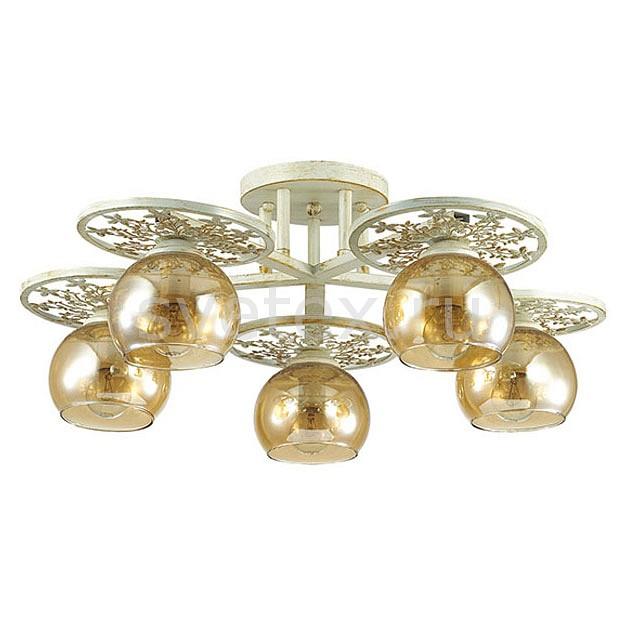 Потолочная люстра LumionЛюстры<br>Артикул - LMN_3234_5C,Бренд - Lumion (Италия),Коллекция - Lunett,Гарантия, месяцы - 24,Высота, мм - 230,Диаметр, мм - 550,Размер упаковки, мм - 130x570x570,Тип лампы - компактная люминесцентная [КЛЛ] ИЛИнакаливания ИЛИсветодиодная [LED],Общее кол-во ламп - 5,Напряжение питания лампы, В - 220,Максимальная мощность лампы, Вт - 40,Лампы в комплекте - отсутствуют,Цвет плафонов и подвесок - янтарный,Тип поверхности плафонов - прозрачный,Материал плафонов и подвесок - стекло,Цвет арматуры - белый с золотой патиной,Тип поверхности арматуры - матовый,Материал арматуры - металл,Количество плафонов - 5,Возможность подлючения диммера - можно, если установить лампу накаливания,Тип цоколя лампы - E14,Класс электробезопасности - I,Общая мощность, Вт - 200,Степень пылевлагозащиты, IP - 20,Диапазон рабочих температур - комнатная температура,Дополнительные параметры - способ крепления к потолку - на монтажной пластине<br>