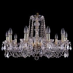 Подвесная люстра Bohemia Ivele CrystalБолее 6 ламп<br>Артикул - BI_1402_10_240_G_Leafs,Бренд - Bohemia Ivele Crystal (Чехия),Коллекция - 1402,Гарантия, месяцы - 24,Высота, мм - 700,Диаметр, мм - 700,Размер упаковки, мм - 510x510x200,Тип лампы - компактная люминесцентная [КЛЛ] ИЛИнакаливания ИЛИсветодиодная [LED],Общее кол-во ламп - 10,Напряжение питания лампы, В - 220,Максимальная мощность лампы, Вт - 40,Лампы в комплекте - отсутствуют,Цвет плафонов и подвесок - неокрашенный,Тип поверхности плафонов - прозрачный,Материал плафонов и подвесок - хрусталь,Цвет арматуры - золото, неокрашенный,Тип поверхности арматуры - глянцевый, прозрачный, рельефный,Материал арматуры - металл, стекло,Возможность подлючения диммера - можно, если установить лампу накаливания,Форма и тип колбы - свеча ИЛИ свеча на ветру,Тип цоколя лампы - E14,Класс электробезопасности - I,Общая мощность, Вт - 400,Степень пылевлагозащиты, IP - 20,Диапазон рабочих температур - комнатная температура,Дополнительные параметры - способ крепления светильника к потолку - на крюке, указана высота светильника без подвеса<br>