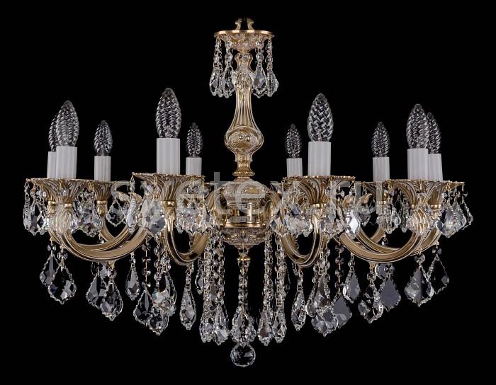 Фото Подвесная люстра Bohemia Ivele Crystal 1702 1702/10/B/GW/Leafs