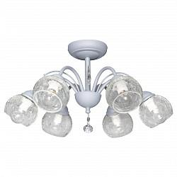 Люстра на штанге Аврора5 или 6 ламп<br>Артикул - AV_10024-6C,Бренд - Аврора (Россия),Коллекция - Лагуна,Гарантия, месяцы - 24,Высота, мм - 250,Диаметр, мм - 490,Тип лампы - компактная люминесцентная [КЛЛ] ИЛИнакаливания ИЛИсветодиодная [LED],Общее кол-во ламп - 6,Напряжение питания лампы, В - 220,Максимальная мощность лампы, Вт - 60,Лампы в комплекте - отсутствуют,Цвет плафонов и подвесок - неокрашенный,Тип поверхности плафонов - прозрачный,Материал плафонов и подвесок - стекло, хрусталь,Цвет арматуры - белый,Тип поверхности арматуры - матовый,Материал арматуры - металл,Возможность подлючения диммера - можно, если установить лампу накаливания,Тип цоколя лампы - E14,Класс электробезопасности - I,Общая мощность, Вт - 360,Степень пылевлагозащиты, IP - 20,Диапазон рабочих температур - комнатная температура,Дополнительные параметры - способ крепления светильника к потолку - на монтажной пластине<br>