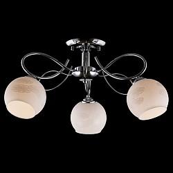 Люстра на штанге ОптимаНе более 4 ламп<br>Артикул - EV_76403,Бренд - Оптима (Китай),Коллекция - Жасмин,Гарантия, месяцы - 24,Высота, мм - 280,Диаметр, мм - 550,Тип лампы - компактная люминесцентная [КЛЛ] ИЛИнакаливания ИЛИсветодиодная [LED],Общее кол-во ламп - 3,Напряжение питания лампы, В - 220,Максимальная мощность лампы, Вт - 60,Лампы в комплекте - отсутствуют,Цвет плафонов и подвесок - белый с рисунком,Тип поверхности плафонов - матовый,Материал плафонов и подвесок - стекло,Цвет арматуры - хром,Тип поверхности арматуры - глянцевый,Материал арматуры - металл,Возможность подлючения диммера - можно, если установить лампу накаливания,Тип цоколя лампы - E27,Класс электробезопасности - I,Общая мощность, Вт - 180,Степень пылевлагозащиты, IP - 20,Диапазон рабочих температур - комнатная температура,Дополнительные параметры - способ крепления светильника к потолку - на монтажной пластине<br>