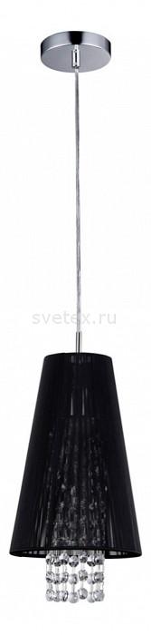 Подвесной светильник MaytoniПодвесные светильники<br>Артикул - MY_F002-11-N,Бренд - Maytoni (Германия),Коллекция - Fusion 3,Гарантия, месяцы - 24,Время изготовления, дней - 1,Высота, мм - 1000,Диаметр, мм - 170,Тип лампы - компактная люминесцентная [КЛЛ] ИЛИнакаливания ИЛИсветодиодная [LED],Общее кол-во ламп - 1,Напряжение питания лампы, В - 220,Максимальная мощность лампы, Вт - 40,Лампы в комплекте - отсутствуют,Цвет плафонов и подвесок - неокрашенный, черный,Тип поверхности плафонов - прозрачный,Материал плафонов и подвесок - органза, хрусталь,Цвет арматуры - никель,Тип поверхности арматуры - глянцевый,Материал арматуры - металл,Количество плафонов - 1,Возможность подлючения диммера - можно, если установить лампу накаливания,Тип цоколя лампы - E14,Класс электробезопасности - I,Степень пылевлагозащиты, IP - 20,Диапазон рабочих температур - комнатная температура<br>
