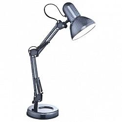 Настольная лампа GloboМеталлический плафон<br>Артикул - GB_24892,Бренд - Globo (Австрия),Коллекция - Carbon,Гарантия, месяцы - 24,Время изготовления, дней - 1,Высота, мм - 590,Диаметр, мм - 125,Размер упаковки, мм - 100x175x165,Тип лампы - компактная люминесцентная [КЛЛ] ИЛИнакаливания ИЛИсветодиодная [LED],Общее кол-во ламп - 1,Напряжение питания лампы, В - 220,Максимальная мощность лампы, Вт - 40,Лампы в комплекте - отсутствуют,Цвет плафонов и подвесок - серый с орнаментом,Тип поверхности плафонов - глянцевый,Материал плафонов и подвесок - металл,Цвет арматуры - серый, черный,Тип поверхности арматуры - глянцевый, матовый,Материал арматуры - металл, полимер,Тип цоколя лампы - E27,Класс электробезопасности - II,Степень пылевлагозащиты, IP - 20,Диапазон рабочих температур - комнатная температура,Дополнительные параметры - поворотный светильник:диаметр плафона - 125 мм<br>