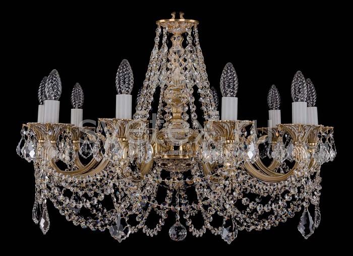 Фото Подвесная люстра Bohemia Ivele Crystal 1702 1702/10/C/GW/Leafs
