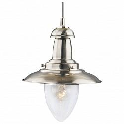 Подвесной светильник Arte LampСветодиодные<br>Артикул - AR_A5530SP-1SS,Бренд - Arte Lamp (Италия),Коллекция - Fisherman,Гарантия, месяцы - 24,Высота, мм - 310,Диаметр, мм - 300,Размер упаковки, мм - 235x350x350,Тип лампы - компактная люминесцентная [КЛЛ] ИЛИнакаливания ИЛИсветодиодная [LED],Общее кол-во ламп - 1,Напряжение питания лампы, В - 220,Максимальная мощность лампы, Вт - 100,Лампы в комплекте - отсутствуют,Цвет плафонов и подвесок - неокрашенный,Тип поверхности плафонов - прозрачный,Материал плафонов и подвесок - стекло,Цвет арматуры - серебро,Тип поверхности арматуры - матовый,Материал арматуры - металл,Возможность подлючения диммера - можно, если установить лампу накаливания,Тип цоколя лампы - E27,Класс электробезопасности - I,Степень пылевлагозащиты, IP - 20,Диапазон рабочих температур - комнатная температура,Дополнительные параметры - способ крепления светильника к потолку — на монтажной пластине<br>