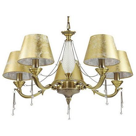 Подвесная люстра Odeon LightСветильники<br>Артикул - OD_3279_5,Бренд - Odeon Light (Италия),Коллекция - Femina,Гарантия, месяцы - 24,Высота, мм - 430-870,Диаметр, мм - 660,Тип лампы - компактная люминесцентная [КЛЛ] ИЛИнакаливания ИЛИсветодиодная [LED],Общее кол-во ламп - 5,Напряжение питания лампы, В - 220,Максимальная мощность лампы, Вт - 40,Лампы в комплекте - отсутствуют,Цвет плафонов и подвесок - золото,Тип поверхности плафонов - глянцевый, прозрачный,Материал плафонов и подвесок - текстиль, хрусталь,Цвет арматуры - золото, неокрашенный,Тип поверхности арматуры - глянцевый, прозрачный,Материал арматуры - металл, стекло,Количество плафонов - 5,Возможность подлючения диммера - можно, если установить лампу накаливания,Тип цоколя лампы - E14,Класс электробезопасности - I,Общая мощность, Вт - 200,Степень пылевлагозащиты, IP - 20,Диапазон рабочих температур - комнатная температура,Дополнительные параметры - способ крепления светильника к потолку - на крюке, регулируется по высоте<br>