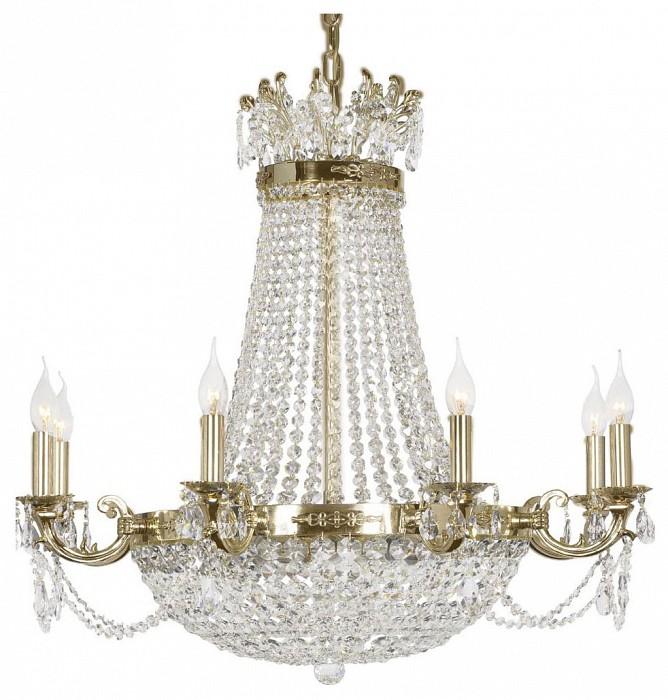 Подвесная люстра Dio D'ArteБолее 6 ламп<br>Артикул - DDA_Lodi_E_1.6.8.200_G,Бренд - Dio D'Arte (Италия),Коллекция - Lodi,Гарантия, месяцы - 24,Высота, мм - 750,Диаметр, мм - 810,Тип лампы - компактная люминесцентная [КЛЛ] ИЛИнакаливания ИЛИсветодиодная  [LED],Общее кол-во ламп - 8,Напряжение питания лампы, В - 220,Максимальная мощность лампы, Вт - 40,Лампы в комплекте - отсутствуют,Цвет плафонов и подвесок - неокрашенный,Тип поверхности плафонов - прозрачный,Материал плафонов и подвесок - хрусталь Asfour,Цвет арматуры - золото,Тип поверхности арматуры - глянцевый,Материал арматуры - металл,Возможность подлючения диммера - можно, если установить лампу накаливания,Форма и тип колбы - свеча ИЛИ свеча на ветру,Тип цоколя лампы - E14,Класс электробезопасности - I,Общая мощность, Вт - 320,Степень пылевлагозащиты, IP - 20,Диапазон рабочих температур - комнатная температура,Дополнительные параметры - способ крепления светильника к потолку - на крюке, указана высота светильника без подвеса<br>