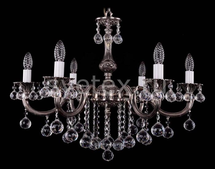 Фото Подвесная люстра Bohemia Ivele Crystal 1702 1702/6/B/NB/Balls