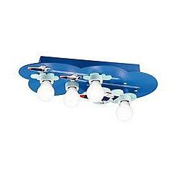 Накладной светильник Odeon LightСветодиодные<br>Артикул - OD_2440_4C,Бренд - Odeon Light (Италия),Гарантия, месяцы - 24,Время изготовления, дней - 1,Высота, мм - 120,Тип лампы - компактная люминесцентная [КЛЛ] ИЛИнакаливания ИЛИсветодиодная [LED],Общее кол-во ламп - 4,Напряжение питания лампы, В - 220,Максимальная мощность лампы, Вт - 60,Лампы в комплекте - отсутствуют,Цвет арматуры - синий с рисунком,Тип поверхности арматуры - матовый,Материал арматуры - МДФ, металл,Возможность подлючения диммера - можно, если установить лампу накаливания,Тип цоколя лампы - E27,Класс электробезопасности - I,Общая мощность, Вт - 240,Степень пылевлагозащиты, IP - 20,Диапазон рабочих температур - комнатная температура<br>