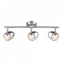 Спот GloboС 3 лампами<br>Артикул - GB_56206-3,Бренд - Globo (Австрия),Коллекция - Manjola,Гарантия, месяцы - 24,Тип лампы - светодиодная [LED],Общее кол-во ламп - 3,Напряжение питания лампы, В - 128,Максимальная мощность лампы, Вт - 3,Лампы в комплекте - светодиодные [LED],Цвет плафонов и подвесок - неокрашенный, хром,Тип поверхности плафонов - глянцевый, прозрачный,Материал плафонов и подвесок - акрил, металл,Цвет арматуры - хром,Тип поверхности арматуры - глянцевый,Материал арматуры - металл,Возможность подлючения диммера - нельзя,Класс электробезопасности - I,Общая мощность, Вт - 9,Степень пылевлагозащиты, IP - 20,Диапазон рабочих температур - комнатная температура,Дополнительные параметры - поворотный светильник<br>