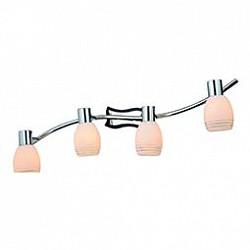 Спот GloboС 4 лампами<br>Артикул - GB_541010-4,Бренд - Globo (Австрия),Коллекция - 541010,Гарантия, месяцы - 24,Тип лампы - компактная люминесцентная [КЛЛ] ИЛИнакаливания ИЛИсветодиодная [LED],Общее кол-во ламп - 4,Напряжение питания лампы, В - 220,Максимальная мощность лампы, Вт - 40,Лампы в комплекте - отсутствуют,Цвет плафонов и подвесок - белый полосатый,Тип поверхности плафонов - матовый,Материал плафонов и подвесок - стекло,Цвет арматуры - хром, черный,Тип поверхности арматуры - глянцевый, матовый,Материал арматуры - металл,Количество плафонов - 4,Возможность подлючения диммера - можно, если установить лампу накаливания,Тип цоколя лампы - E14,Класс электробезопасности - I,Общая мощность, Вт - 160,Степень пылевлагозащиты, IP - 20,Диапазон рабочих температур - комнатная температура,Дополнительные параметры - способ крепления светильника к потолку и стене - на монтажной пластине, поворотный светильник<br>