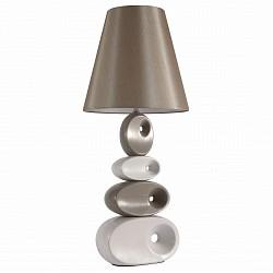 Настольная лампа декоративная ST-LuceС абажуром<br>Артикул - SL998.504.01,Бренд - ST-Luce (Китай),Коллекция - Tabella,Гарантия, месяцы - 24,Высота, мм - 780,Диаметр, мм - 330,Размер упаковки, мм - 540х460х620; 340х340х460,Тип лампы - компактная люминесцентная [КЛЛ] ИЛИнакаливания ИЛИсветодиодная [LED],Общее кол-во ламп - 1,Напряжение питания лампы, В - 220,Максимальная мощность лампы, Вт - 60,Лампы в комплекте - отсутствуют,Цвет плафонов и подвесок - светло-коричневый,Тип поверхности плафонов - матовый,Материал плафонов и подвесок - текстиль,Цвет арматуры - белый, светло-коричневый,Тип поверхности арматуры - глянцевый,Материал арматуры - керамика,Тип цоколя лампы - E27,Класс электробезопасности - II,Степень пылевлагозащиты, IP - 20,Диапазон рабочих температур - комнатная температура<br>