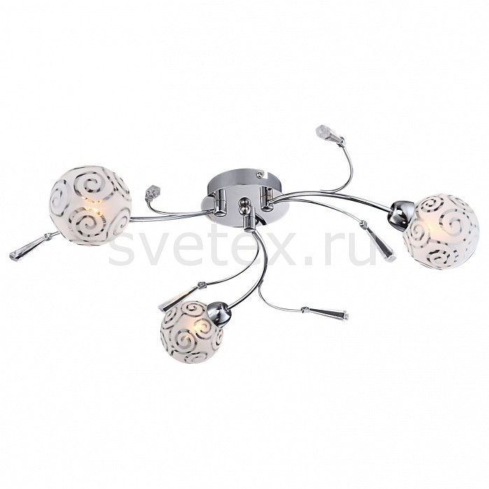 Потолочная люстра GloboПолимерные плафоны<br>Артикул - GB_56392-3D,Бренд - Globo (Австрия),Коллекция - Orlene,Гарантия, месяцы - 24,Время изготовления, дней - 1,Высота, мм - 130,Диаметр, мм - 540,Тип лампы - галогеновая,Общее кол-во ламп - 3,Напряжение питания лампы, В - 220,Максимальная мощность лампы, Вт - 28,Цвет лампы - белый теплый,Лампы в комплекте - галогеновые G9,Цвет плафонов и подвесок - белый с неокрашенным рисунком, неокрашенный,Тип поверхности плафонов - матовый,Материал плафонов и подвесок - акрил, стекло,Цвет арматуры - хром,Тип поверхности арматуры - глянцевый,Материал арматуры - металл,Количество плафонов - 3,Возможность подлючения диммера - можно,Форма и тип колбы - пальчиковая,Тип цоколя лампы - G9,Цветовая температура, K - 2800 - 3200 K,Экономичнее лампы накаливания - на 50%,Класс электробезопасности - I,Общая мощность, Вт - 84,Степень пылевлагозащиты, IP - 20,Диапазон рабочих температур - комнатная температура<br>