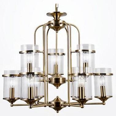 Подвесная люстра EurosvetЛюстры<br>Артикул - EV_78640,Бренд - Eurosvet (Китай),Коллекция - 60040,Гарантия, месяцы - 24,Высота, мм - 560-860,Диаметр, мм - 630,Тип лампы - компактная люминесцентная [КЛЛ] ИЛИнакаливания ИЛИсветодиодная [LED],Общее кол-во ламп - 9,Напряжение питания лампы, В - 220,Максимальная мощность лампы, Вт - 40,Лампы в комплекте - отсутствуют,Цвет плафонов и подвесок - неокрашенный,Тип поверхности плафонов - прозрачный,Материал плафонов и подвесок - стекло,Цвет арматуры - бронза античная,Тип поверхности арматуры - матовый,Материал арматуры - металл,Количество плафонов - 9,Возможность подлючения диммера - можно, если установить лампу накаливания,Тип цоколя лампы - E14,Класс электробезопасности - I,Общая мощность, Вт - 360,Степень пылевлагозащиты, IP - 20,Диапазон рабочих температур - комнатная температура,Дополнительные параметры - способ крепления светильника к потолку - на крюке, светильник регулируется по высоте<br>