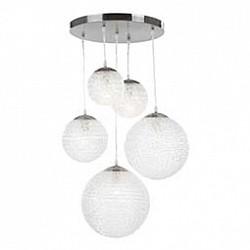Подвесной светильник GloboСветодиодные<br>Артикул - GB_1581-5,Бренд - Globo (Австрия),Коллекция - Balla,Гарантия, месяцы - 24,Высота, мм - 800,Диаметр, мм - 450,Размер упаковки, мм - 355x350x350,Тип лампы - компактная люминесцентная [КЛЛ] ИЛИнакаливания ИЛИсветодиодная [LED],Общее кол-во ламп - 5,Напряжение питания лампы, В - 220,Максимальная мощность лампы, Вт - 60,Лампы в комплекте - отсутствуют,Цвет плафонов и подвесок - молочный,Тип поверхности плафонов - матовый,Материал плафонов и подвесок - стекло,Цвет арматуры - никель,Тип поверхности арматуры - матовый,Материал арматуры - металл,Возможность подлючения диммера - можно, если установить лампу накаливания,Тип цоколя лампы - E27,Класс электробезопасности - I,Общая мощность, Вт - 300,Степень пылевлагозащиты, IP - 20,Диапазон рабочих температур - комнатная температура,Дополнительные параметры - диаметры плафонов:150 мм — 2 штуки, 200 мм - 1 штука, 250 мм - 1 штука, 300 мм - 1 штука<br>