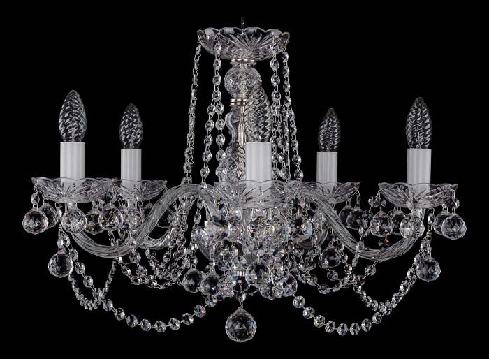 Фото Подвесная люстра Bohemia Ivele Crystal 1402 1402/5/195/Ni/Balls