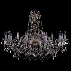 Подвесная люстра Bohemia Ivele CrystalБолее 6 ламп<br>Артикул - BI_1411_12_380-72_G,Бренд - Bohemia Ivele Crystal (Чехия),Коллекция - 1411,Гарантия, месяцы - 12,Высота, мм - 730,Диаметр, мм - 1050,Размер упаковки, мм - 640x640x320,Тип лампы - компактная люминесцентная [КЛЛ] ИЛИнакаливания ИЛИсветодиодная [LED],Общее кол-во ламп - 12,Напряжение питания лампы, В - 220,Максимальная мощность лампы, Вт - 40,Лампы в комплекте - отсутствуют,Цвет плафонов и подвесок - неокрашенный,Тип поверхности плафонов - прозрачный,Материал плафонов и подвесок - хрусталь,Цвет арматуры - золото, неокрашенный,Тип поверхности арматуры - глянцевый, прозрачный,Материал арматуры - металл, стекло,Возможность подлючения диммера - можно, если установить лампу накаливания,Форма и тип колбы - свеча ИЛИ свеча на ветру,Тип цоколя лампы - E14,Класс электробезопасности - I,Общая мощность, Вт - 480,Степень пылевлагозащиты, IP - 20,Диапазон рабочих температур - комнатная температура,Дополнительные параметры - способ крепления светильника к потолку – на крюке<br>